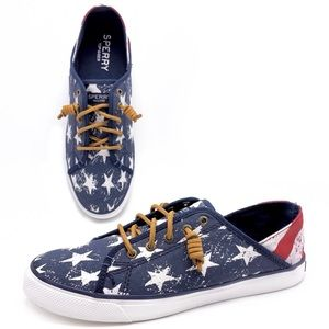 Sperry Seacoast Isle Star and Stripe Sneakers
